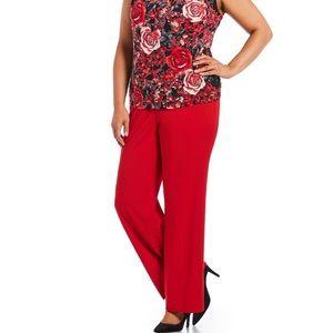 CALVIN KLEIN plus size red dress pant!